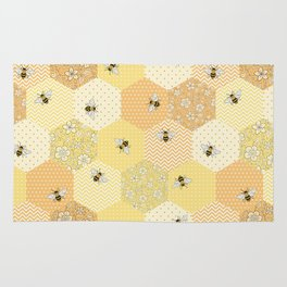 Patchwork Bees Pattern Rug