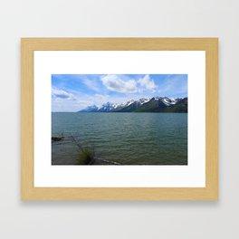 Jackson Lake Impression Framed Art Print
