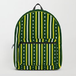 Stripes Pattern 204 (green yellow stripes) Backpack