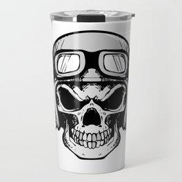 Biker Skull and cross bones Travel Mug