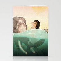 bath Stationery Cards featuring The Bath by keith p. rein