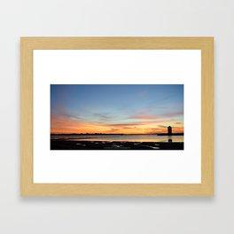 Brightlingsea Sunset Framed Art Print