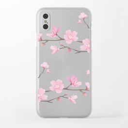 Cherry Blossom - Transparent Background Clear iPhone Case