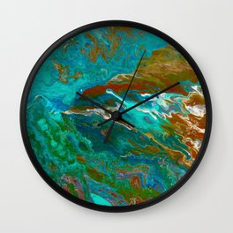 Earth by Noora Elkoussy Wall Clock