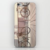 bicycles iPhone & iPod Skins featuring Bicycles by Krista Mary
