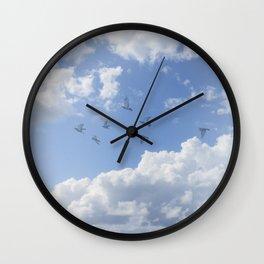 Window Curtains - Flying Away Wall Clock