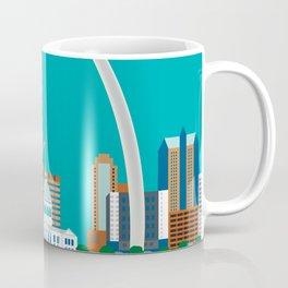 St. Louis, Missouri - Skyline Illustration by Loose Petals Coffee Mug