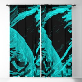 Planet 102 Teal Blackout Curtain