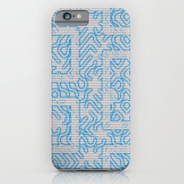Blue Needlepoint Maze iPhone Case