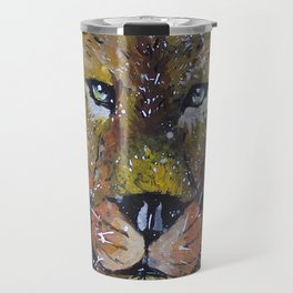 Lion painting, Lion wallart Travel Mug