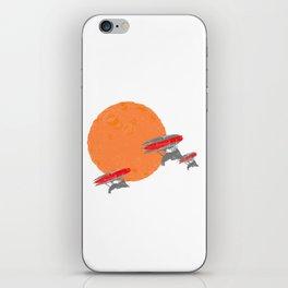 Around the Moon Orange Textured Version 2 iPhone Skin