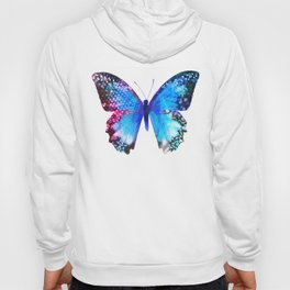 Big Blue Butterfly Hoody