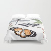 insects Duvet Covers featuring The insects by Polina Khoronko