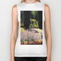 lavender Biker Tanks featuring Lavender by Olivia Nicholls-Bates