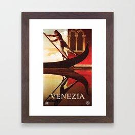 Vintage Venezia Italia Travel Framed Art Print