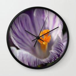 Crocus Wall Clock