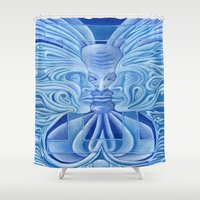 "gemini Shower Curtains featuring ""Gemini"" by murdzak"