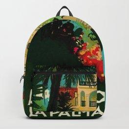 Vintage Capri, Italy Seaside Hotel Albergo La Palma Advertising Poster Backpack