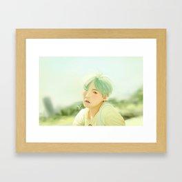 Mint Yoongi Framed Art Print