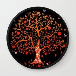 Ancient apple tree Wall Clock