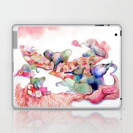Elephants, Pillows & Blankets Laptop & iPad Skin