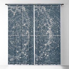 1900 Star Constellation Map - Chart Vintage Blackout Curtain