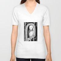 hawk V-neck T-shirts featuring Hawk by ZANA