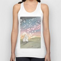 fairies Tank Tops featuring Sunset Fairies by Bluedogrose