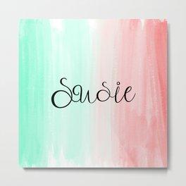 Susie - Watercolor Metal Print