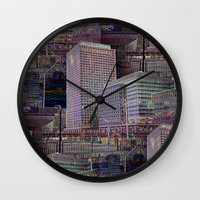office Wall Clocks featuring office Dayze by David  Gough