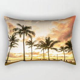 Typical Picturesque Waikiki Beach Sunset Rectangular Pillow