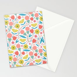 Geometric Floral Pattern Stationery Cards