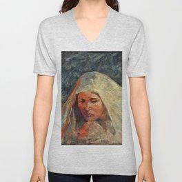 12,000pixel-500dpi - Bela Cikos Sesija - A study of a woman's head - Digital Remastered Edition Unisex V-Neck