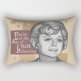All the Make-Believe is Through Rectangular Pillow