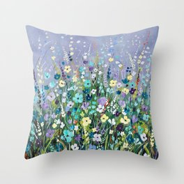 Field of Flowers 2. Throw Pillow