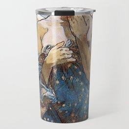 Alphonse Mucha Moonlight Art Nouveau Travel Mug