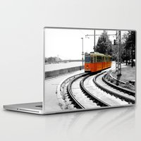 budapest Laptop & iPad Skins featuring Budapest Tram by Dan Davidson