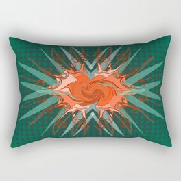 Orange Burst Rectangular Pillow