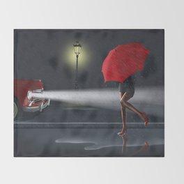 Rainy day Throw Blanket