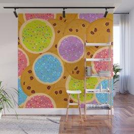Frosted sugar cookies, Chocolate chip cookie, Italian Freshly cookies w Wall Mural