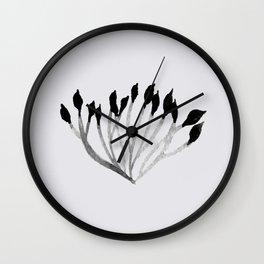 Baesic Mono Floral (Leaf 3) Wall Clock