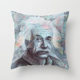 Einstein - The True Sign Of Intelligence Is Not Knowledge But Imagination. Throw Pillow