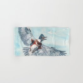Belted Kingfisher Hand & Bath Towel