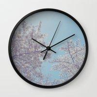 sakura Wall Clocks featuring Sakura by Luke J