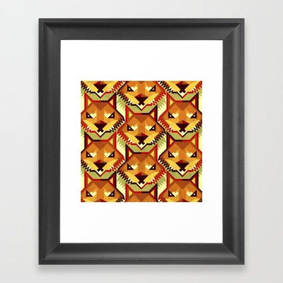 The Bold Wolf pattern Framed Art Print