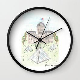 Musee du Louvre Wall Clock
