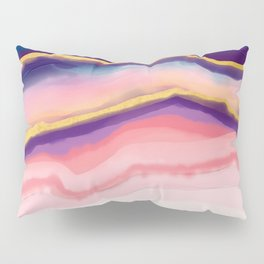 Coral Blue agate Pillow Sham