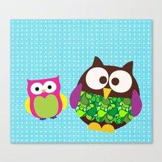 new owl/color Canvas Print