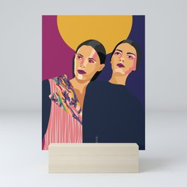 Womanity - Curiosity- Model#3.3 - fashion illustration Mini Art Print