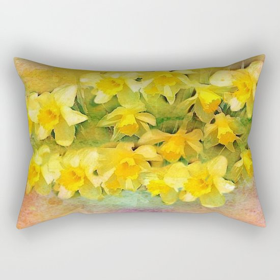 A Little Bit of Spring - Painterly Rectangular Pillow